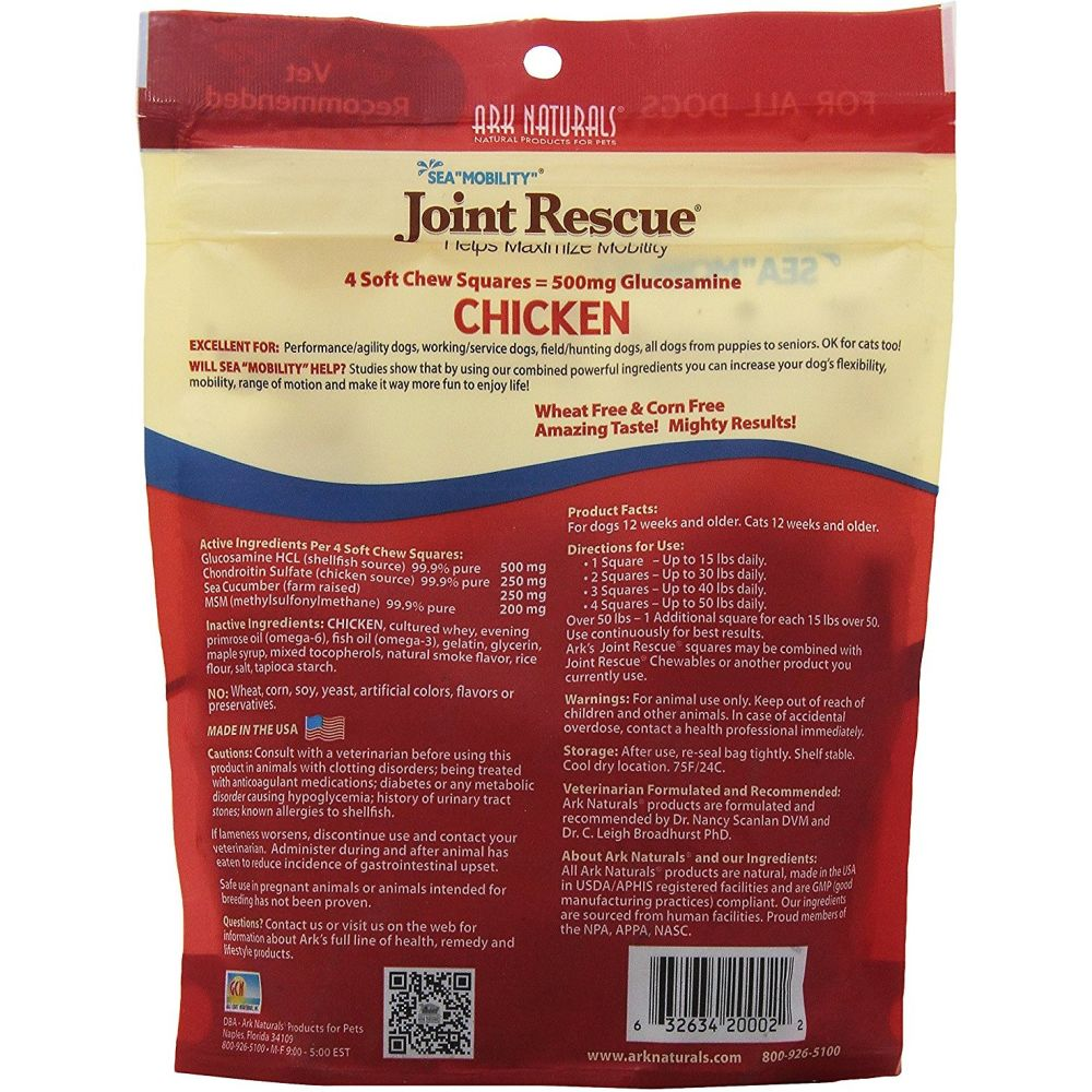 Ark Naturals - Sea Mobility Joint Rescue Chicken Dog Treats, 9oz