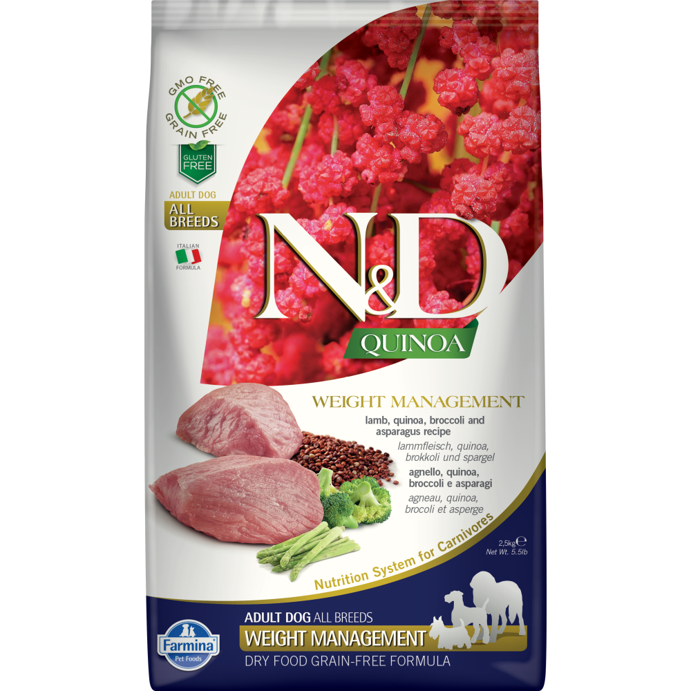 Farmina - Natural & Delicious Quinoa Weight Management Lamb Dry Dog Food