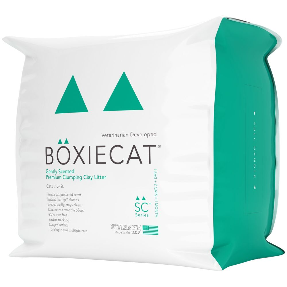 BoxieCat - Gently Scented, Premium Clumping Clay Cat Litter, 28lb