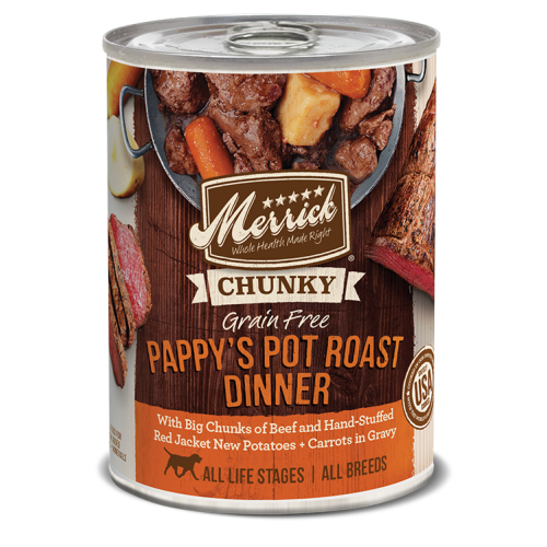 Merrick - CHUNKY Pappy's Pot Roast Dinner Grain-Free Canned Dog Food