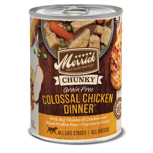 Merrick - CHUNKY Colossal Chicken Dinner Grain-Free Canned Dog Food