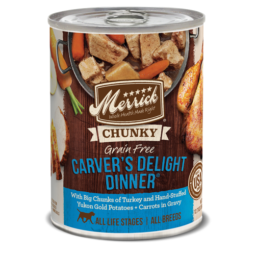 Merrick - CHUNKY Carver's Delight Dinner Grain-Free Canned Dog Food, 12.7oz