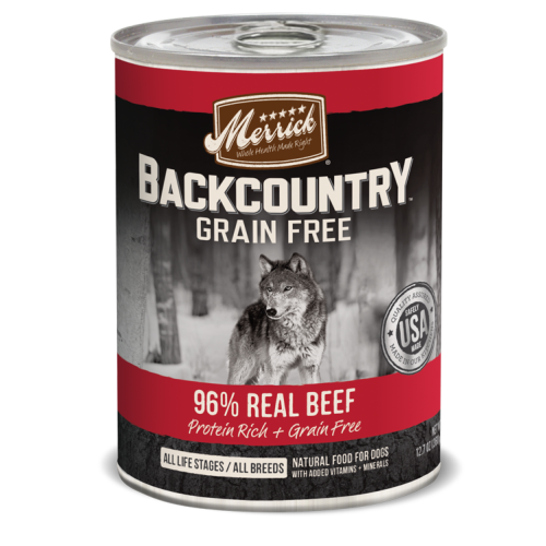 Merrick - Backcountry 96% Real Beef Grain-Free Canned Dog Food