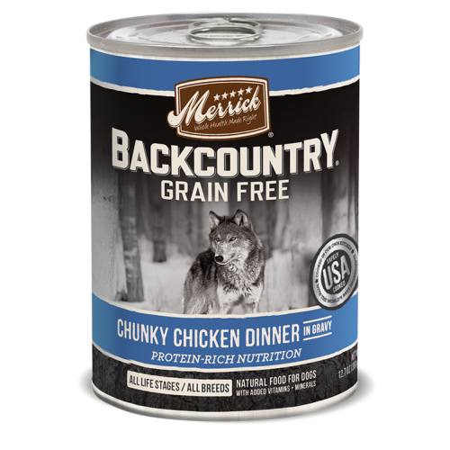 Merrick - Backcountry Chunky Chicken Dinner Grain-Free Canned Dog Food