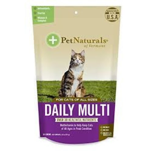 Pet Naturals - Daily Multi 30 Count For All Cat Sizes Pet Supplement, 1.32oz