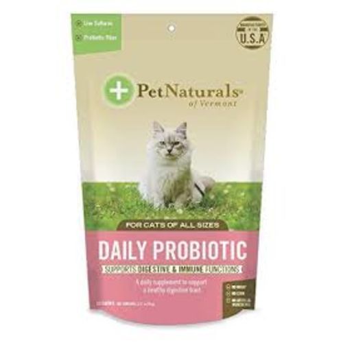 Pet Naturals - Daily Probiotic For Digestion & Immune Functions 30 Count For All Cat Sizes Pet Supplement, 1.27oz