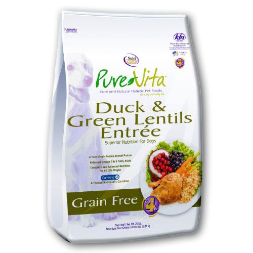 Pure Vita - Duck & Green Lentils Entree Grain-Free Dry Dog Food