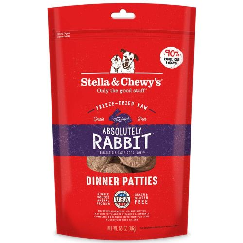 Stella & Chewy's - Absolutely Rabbit Dinner Patties Grain-Free Freeze Dried Food
