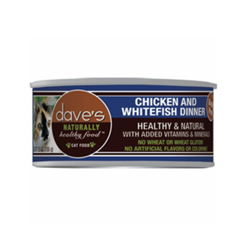 Dave's Pet Food - Naturally Healthy Chicken & Whitefish Dinner Grain-Free Canned Cat Food