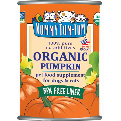 Nummy Tum-Tum - 100% Pure Organic Pumpkin Grain-Free Canned Pet Food Supplement