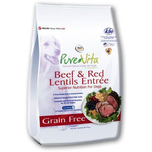 Pure Vita - Beef & Red Lentils Entree Grain-Free Dry Dog Food