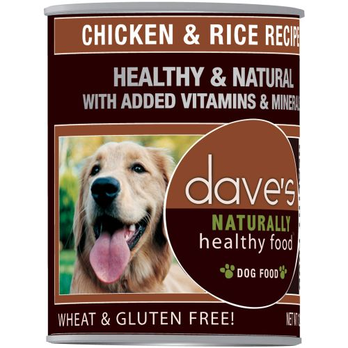 Dave's Pet Food - Naturally Healthy Chicken & Rice Recipe Canned Dog Food