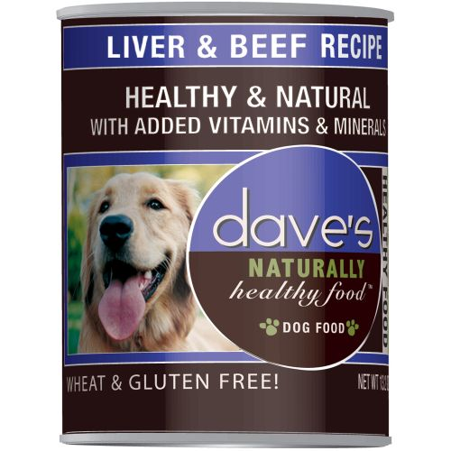 Dave's Pet Food - Naturally Healthy Liver & Beef Recipe Grain-Free Canned Dog Food