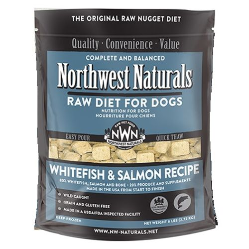 Northwest Naturals - Frozen Whitefish & Salmon Raw Food For Dogs, 6lbs