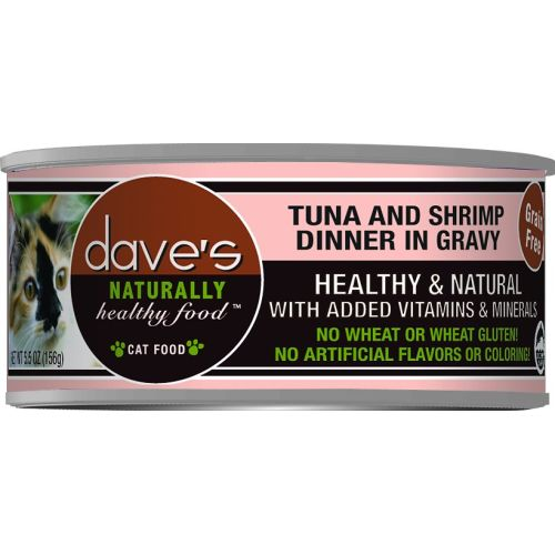 Dave's - Tuna & Shrimp Dinner In Gravy Canned Cat Food, 5.5oz