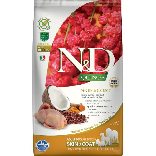 Farmina - Natural & Delicious Quinoa Skin & Coat Quail Dry Dog Food