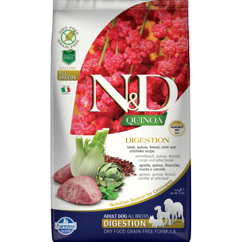Farmina - Natural & Delicious Quinoa Digestion Lamb Dry Dog Food