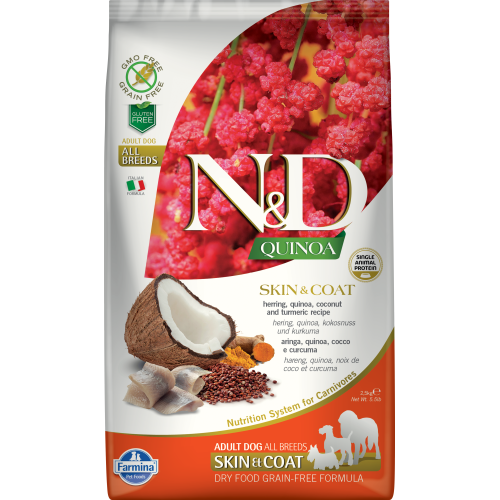Farmina - Natural & Delicious Quinoa Skin & Coat Herring Dry Dog Food