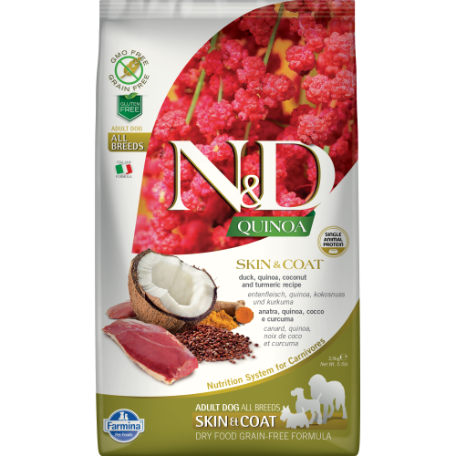 Farmina - Natural & Delicious Quinoa Skin & Coat Duck Dry Dog Food