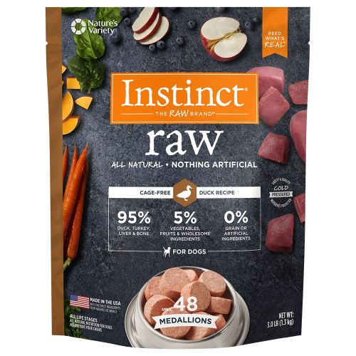 Nature's Variety - Instinct All Natural Duck Recipe Grain-Free Raw Frozen Dog Food