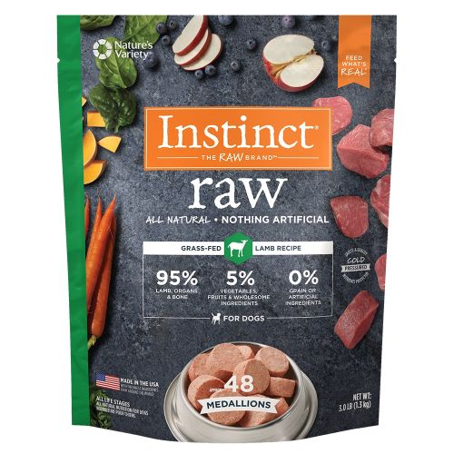 Nature's Variety - Instinct All Natural Lamb Recipe Grain-Free Raw Frozen Dog Food