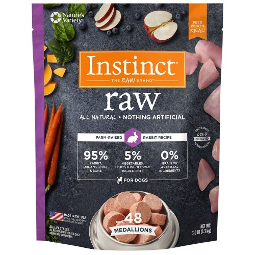 Nature's Variety - Instinct All Natural Rabbit Recipe Grain-Free Raw Frozen Dog Food