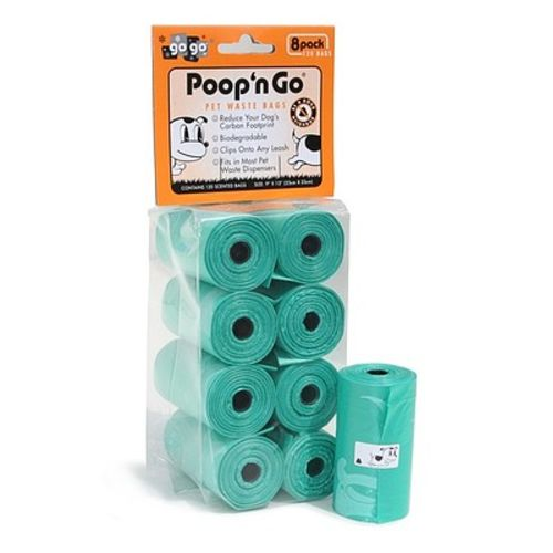 GoGo - Poop N Go Refill Rolls Citrus Scented Green, 8 Pack