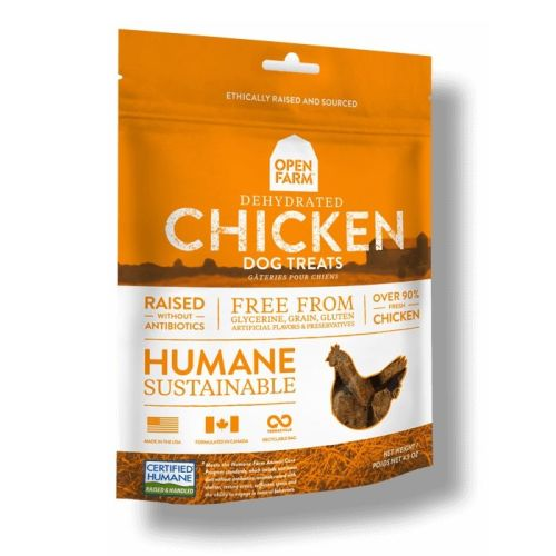 Open Farm - Humane, Sustainable Dehydrated Chicken Grain-Free Dog Treats, 4.5oz
