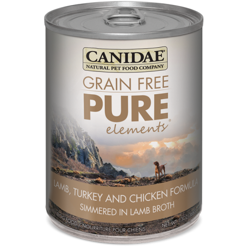 Canidae - Grain-Free Pure Elements Lamb Turkey & Chicken Canned Dog Food, 13oz