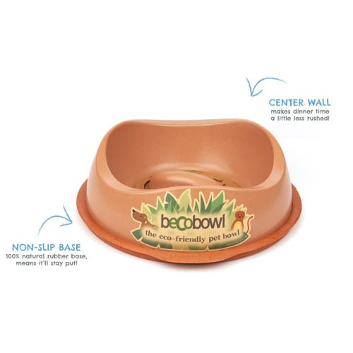 Beco - Slow Feed Bowl Brown, 10in