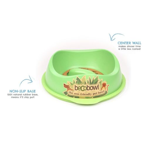 Beco - Slow Feed Bowl Green, 10in
