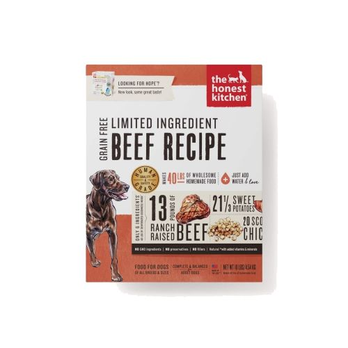 Honest Kitchen - Hope Beef & Chickpea Recipe Grain-Free Dehydrated Dog Food, 10lb