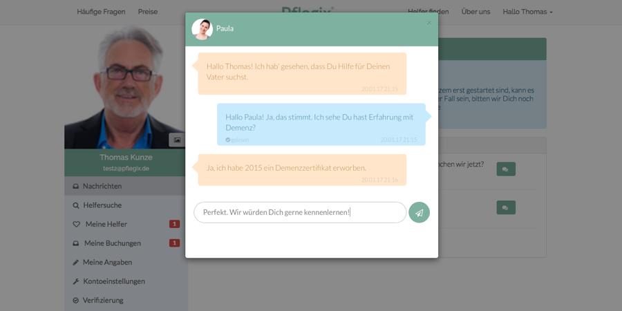Neues Nachrichten-System für vereinfachte Kommunikation zwischen Familien und Helfern