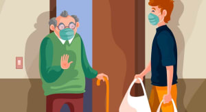 Unterstützung im Alltag: Heiko Helfer ist als Einkaufshilfe für Familien im Einsatz