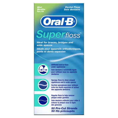 Superfloss for Braces, Bridges and Wide Gaps undefined
