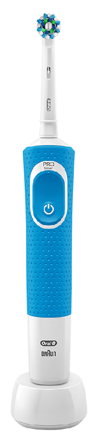 Electric Toothbrushes - Oral-B Vitality - Oral-B Vitality Plus Blue Cross Action Electric Toothbrush Powered by Braun