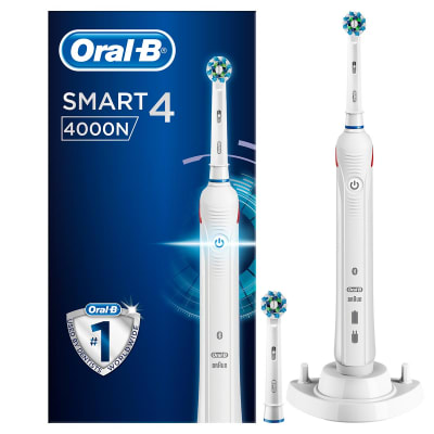Oral-B Smart 4 4000N CrossAction Electric Toothbrush Rechargeable Powered By Braun, UK 2 Pin Plug