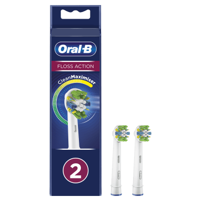Oral-B FlossAction Replacement Brush Heads - 2 Pack