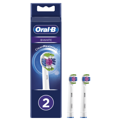 Oral-B 3D White Replacement Brush Heads - 2 Pack