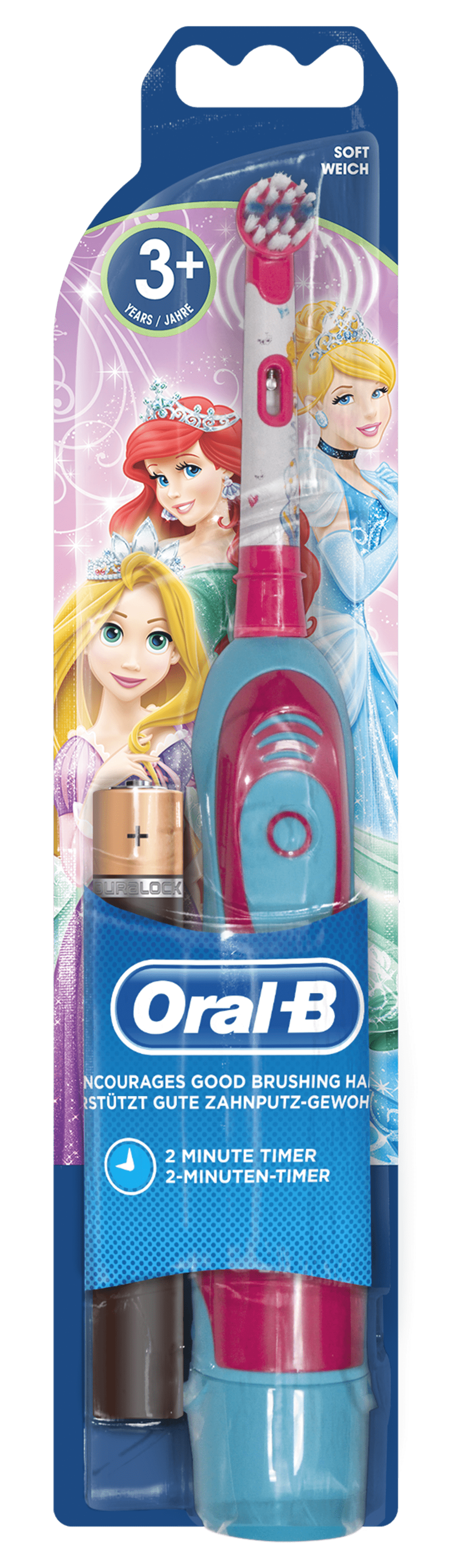Oral-B Stages Power Cars&Planes / Princess Elektrische Zahnbürste mit Batterie