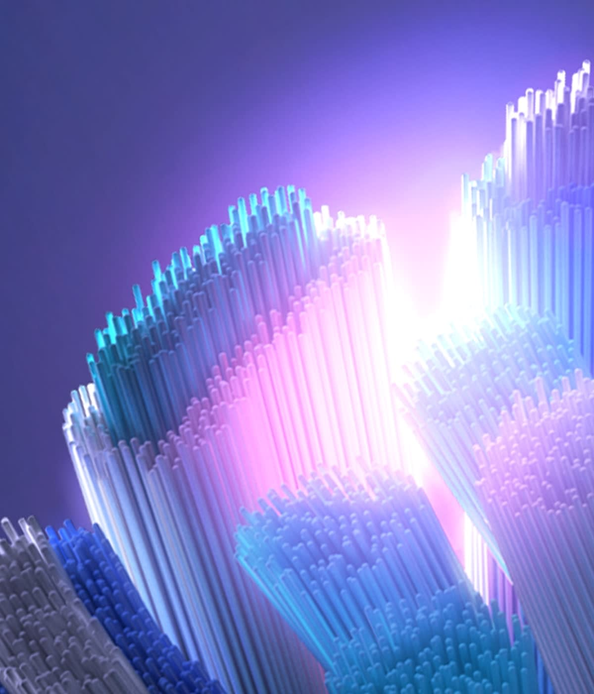 Close-up of Oral-B iO Ultimate Clean brush head tuft-in-tuft bristles