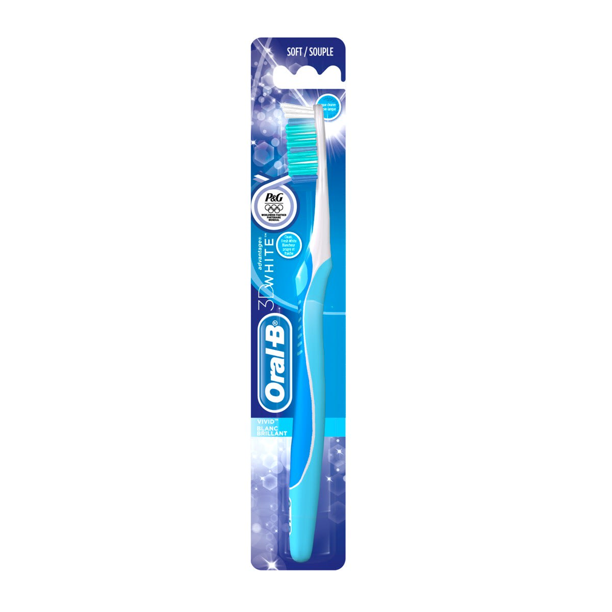 Oral-B 3D White Blanc Brillant Brosse à Dents Manuelle