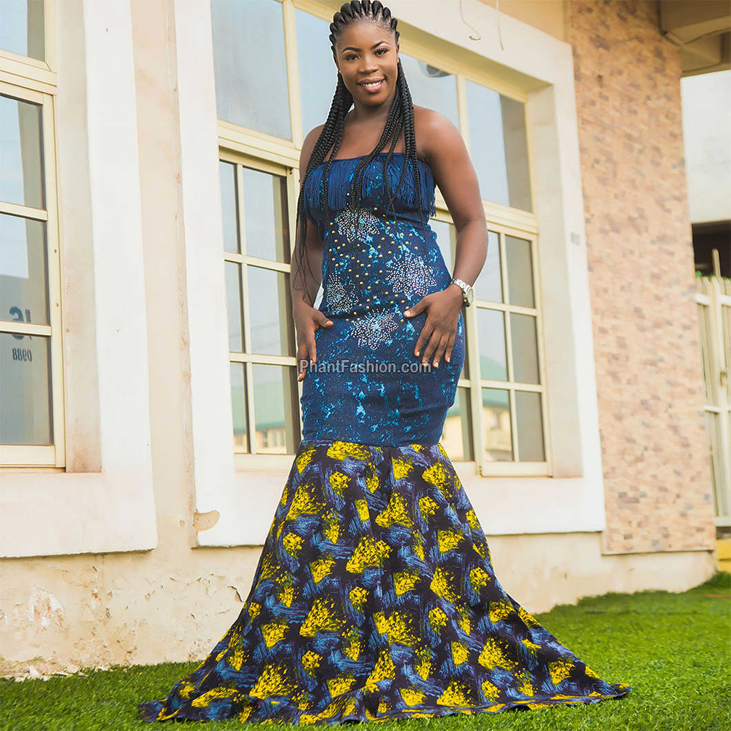 Ankara Dinner Gown Phantfashion Nigerias No 1 Online Tailor