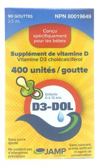 Jamp D3 Dol Supplement De Vitamine D 400 Ui