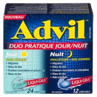 ADVIL JOUR/NUIT DUO PRATIQUE LIQUID-GEL 24+12