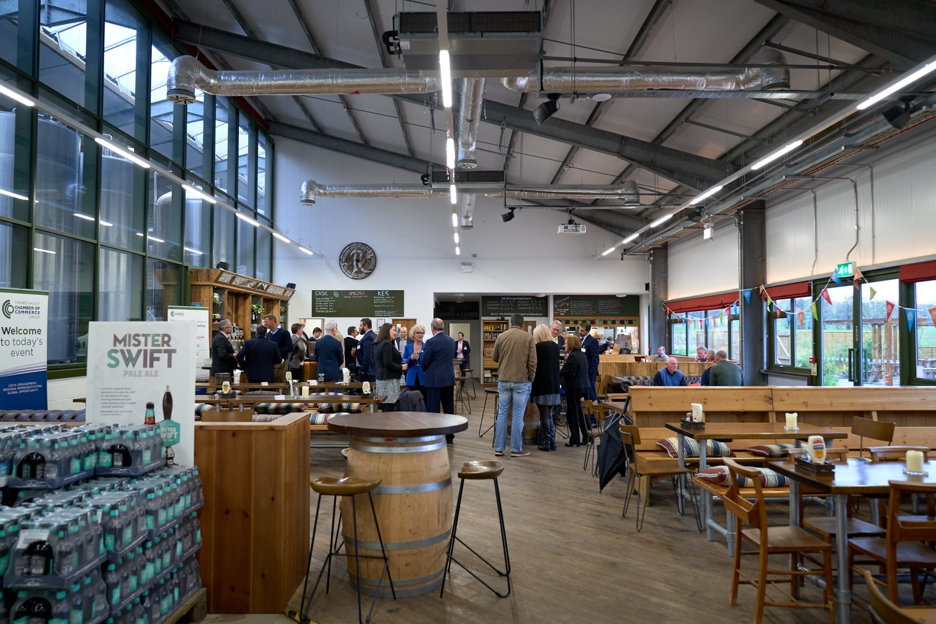 Photograph taken at the West Berkshire Brewery in November 2019 during the Thames Valley Chamber Commerce networking event