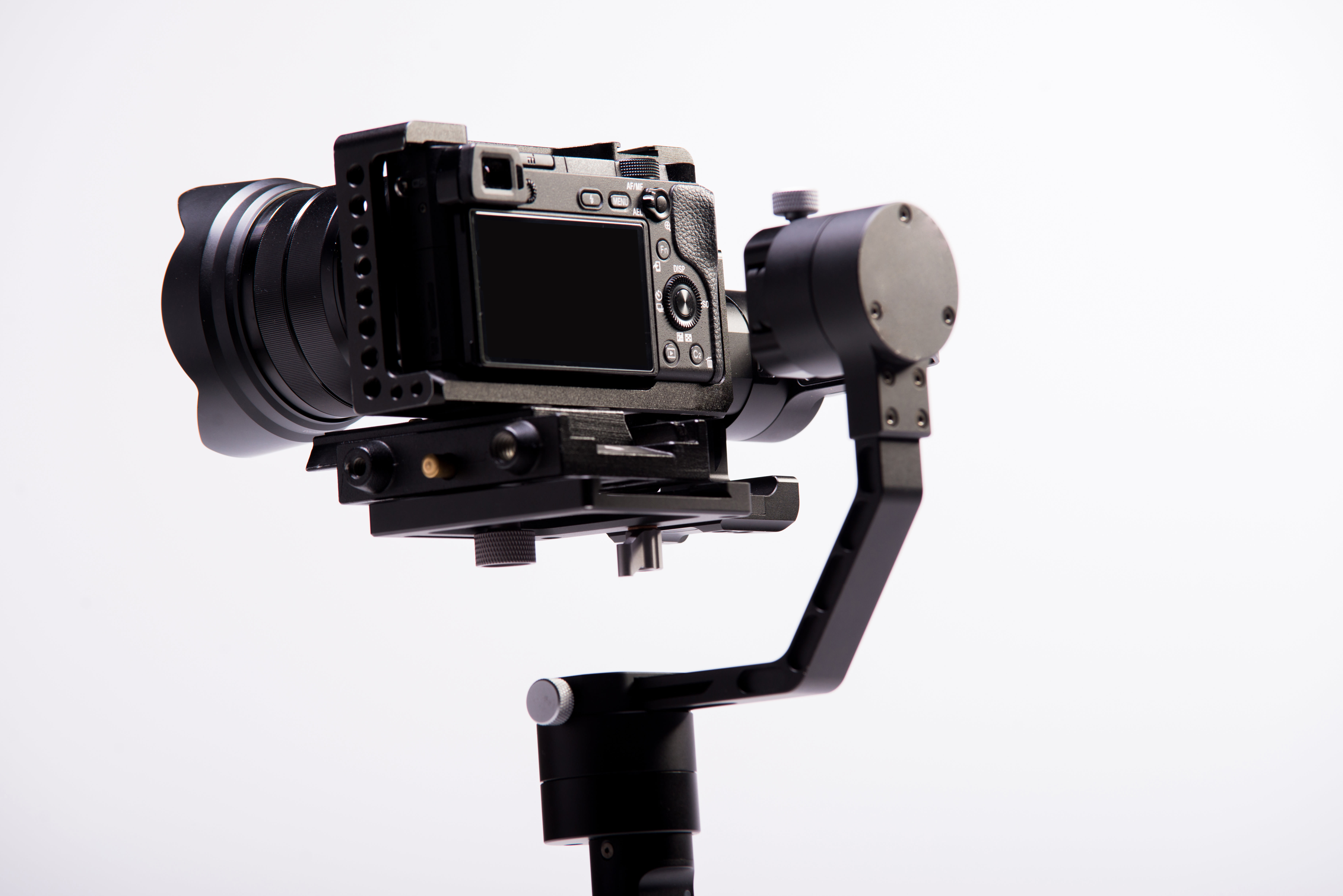 Camera on tripod.