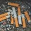 Cigarette butts smoking cessation image.