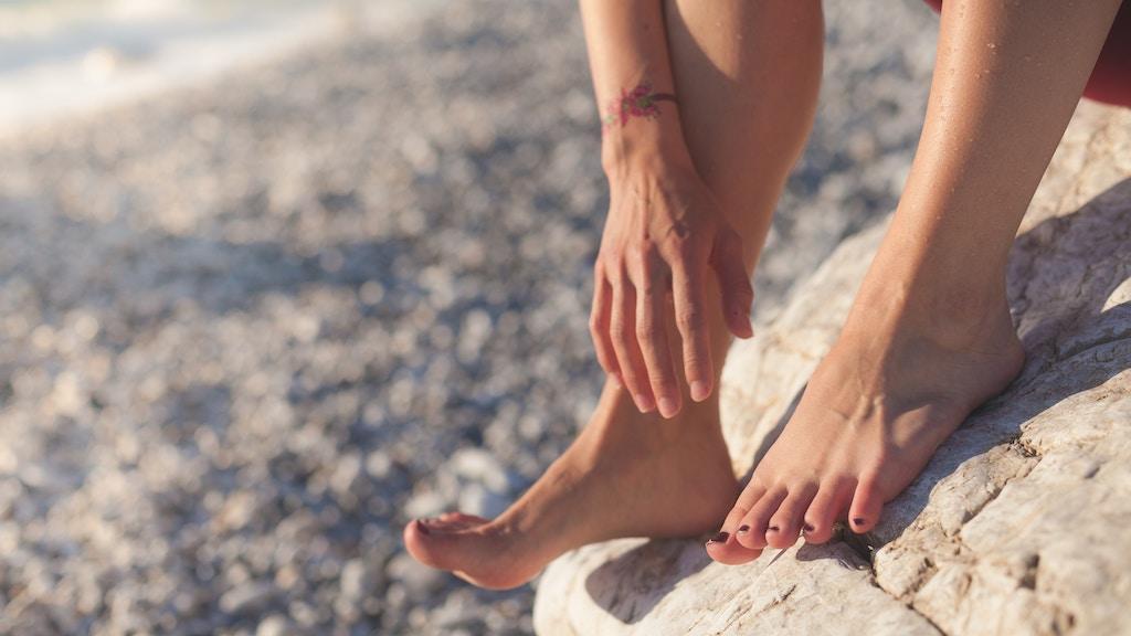Painful feet.