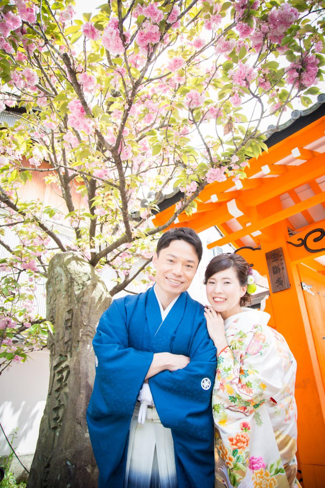 春先の京都 八坂庚申堂で